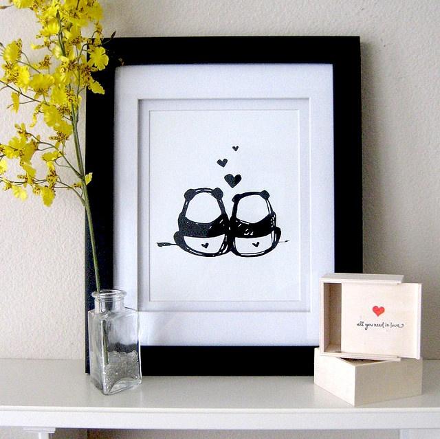 #artprint panda love