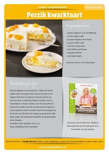 Perzik kwarktaart Sonja Bakker
