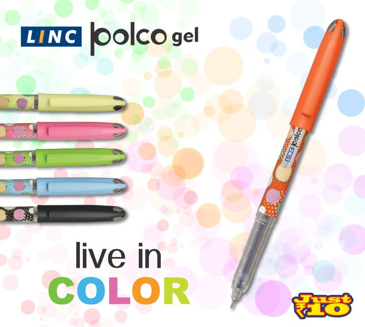 Available in 6 different body colors, the 0.55 mm #Polco is highly #vibrant and #colorful. Smoothness flows equally from the two available #ink colors – Blue & Black #LincPens #EncouragingLiteracy