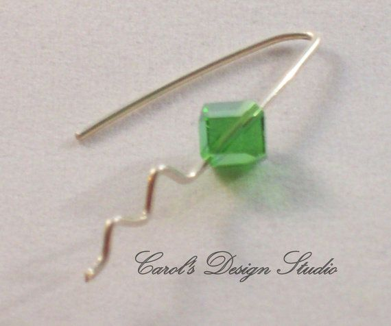 Sterling Silver and Swarovski Crystals, Crystal and Argentium Sterling Silver dangle earrings