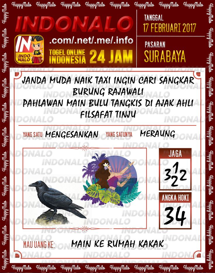 Angka Taysen 6D Togel Wap Online Live Draw 4D Indonalo Surabaya 17 Februari 2017