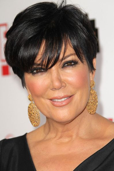 Kris Jenner Gold Dangle Earrings - Kris Jenner Looks - StyleBistro