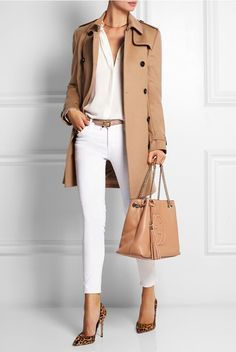 Shown here with: Burberry Trench Coat, The Row Blouse, J Brand Jeans, Miu Miu Belt, Gianvito Rossi Pumps, Gucci Shoulder Bag, Marni Ring, Arme De L'Amour Ring, Jennifer Fisher Necklace.