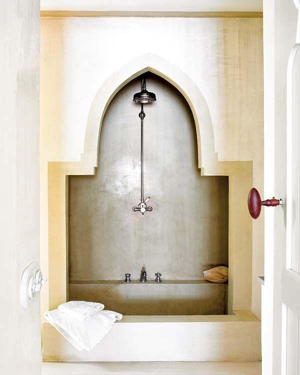 i wonder if we can get waterworks in marrakech...magenta door knob