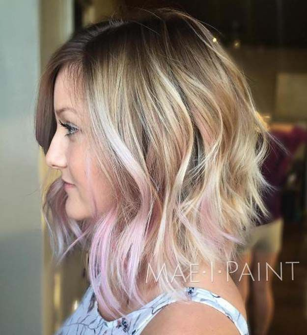 The 48 Best Medium-Length Hairstyles to Steal For Yourself - Pretty Pink Medium Shag - The Best Medium-Length Hairstyles and Haircuts For Thick Hair. These Tutorials Are For Women Looking For An Easy Undo or A Hair Style With Bangs Or With Layers. Check Out The Tutorials On Long Bobs Or For Curly and Fine Hair. These Medium-Length Hairstyles and Haircuts Will Work For Round Faces As Well. Try These If You Have Blonde Hair, Brunette Hair, Just Got Highlights Or A Balayage…