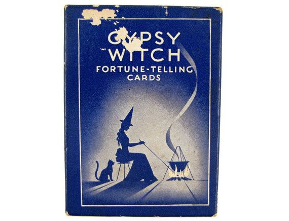 Fortune Teller - Vintage Gypsy Witch Tarot Cards, Old ...