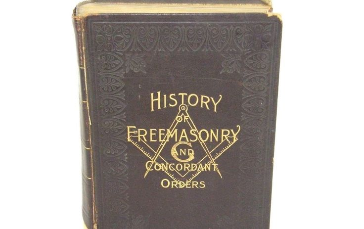 History of Freemasonry and Concordant Orders 1899 Masons Leather Book