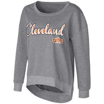 Cavs Ladies Touch Embrace Sweatshirt in grey at the Cleveland Cavaliers Team Shop