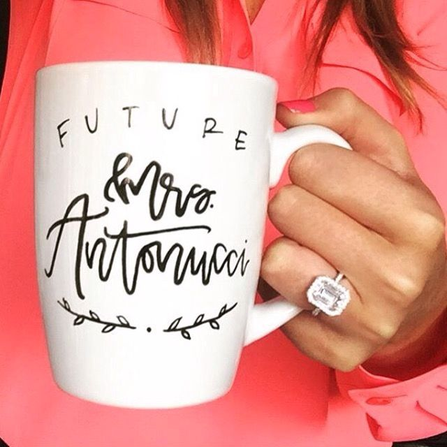 "I love this mug! Better than the ""does this ring make me look engaged"""