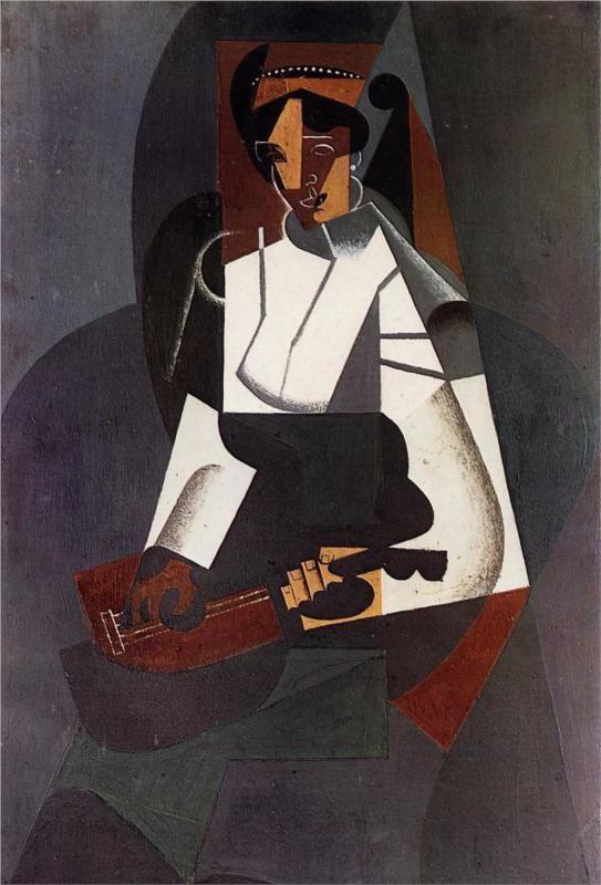 """CUBISMO  """"Woman  with a MANDOLIN"""". Juan GRIS (1887-1927), fue un pintor español que desarrolló su actividad principalmente en París como uno de los maestros del cubismo.  MANDOLINA  o bandolín es un instrumento musical de 4 órdenes dobles creado hacia 1700. El número y tipo de cuerdas de la mandolina ha variado con el tiempo y el lugar, pero la configuración predominante en la actualidad es mandolina napolitana, con cuatro cuerdas dobles afinadas como el violín (sol-re-la-mi). Las cuerdas…"""