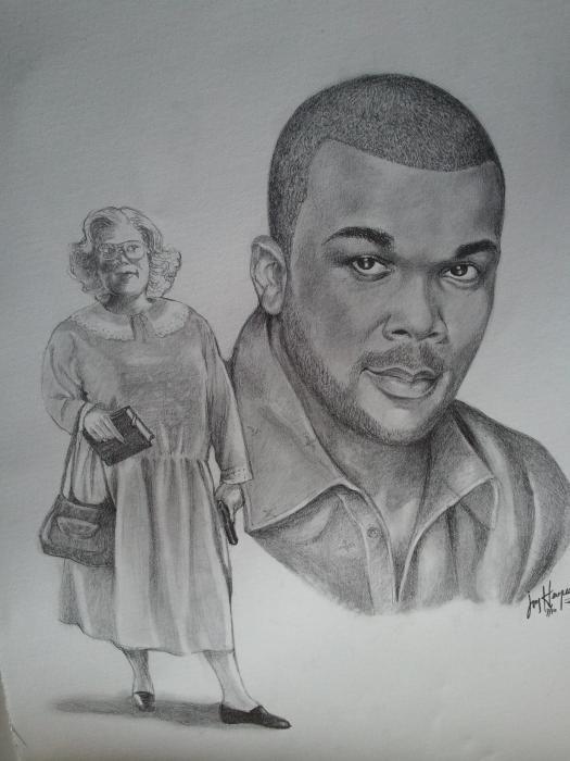 Tyler As Madea Drawing  - Tyler As Madea Fine Art Print