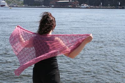 Lehmus - knitted lace shawl