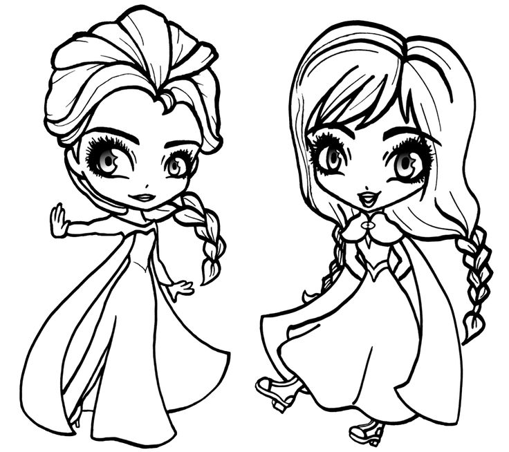 Young Anna Coloring Pages frozen young elsa colo...