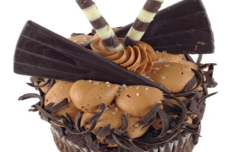 Diva Cupcake with Salted Carmel and Fudge | bake | baking news