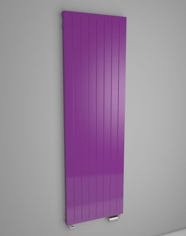 Flat panel radiator. Central heating radiator. Vertical radiator suitable into flat, house or office. Flat panel radiator into interior. Recommended by architects in slate texture. Classic or central connection. Made-to-order radiator. Delivery: 4 weeks. http://www.hothotexclusive.com/en/eshop/radiators-in-signal-violet-colour-ral-4008/onyx-hony/?proportion_type=1&proportion=904&color=54&heating=1