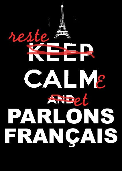 I CANNOT keep calm when he speaks French! My heart melts and then...grrrr! MINE!!!!
