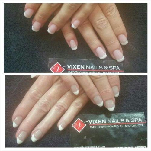 Gel French Manicures www.vixenspa.com