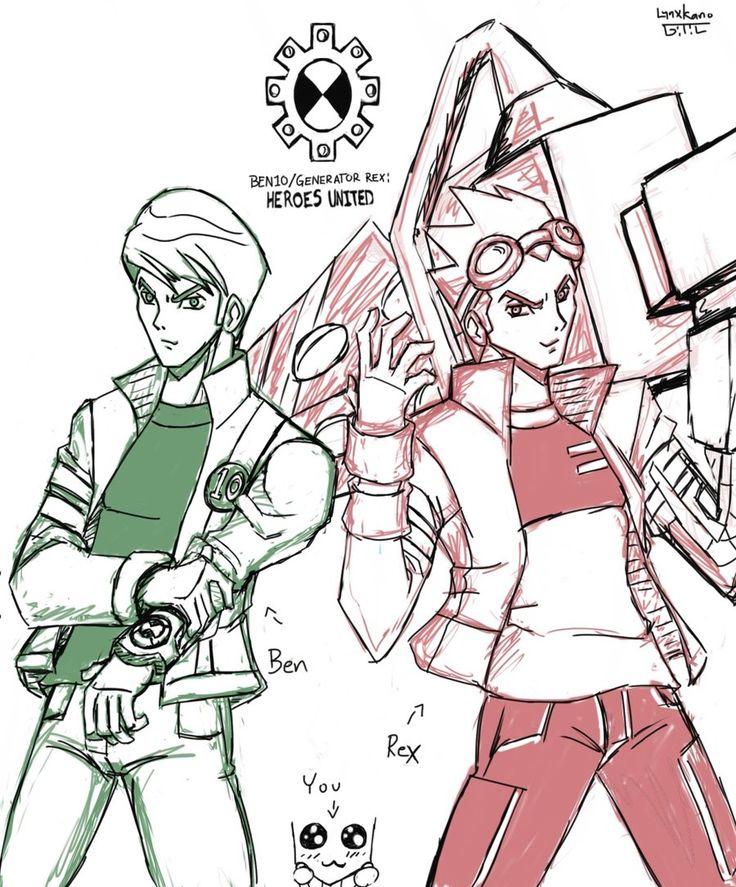 Ben 10-Generator Rex: Heroes United sketch by LynxKano.deviantart.com on @DeviantArt