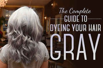 Here Is Every Little Detail On How To Dye Your Hair Gray - Interesting Trend