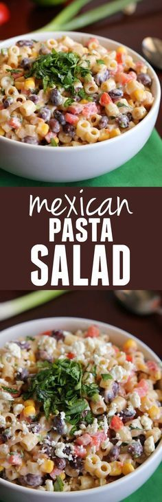 This Mexican Pasta Salad will be one of the best things you take to a potluck and has AMAZING flavor!