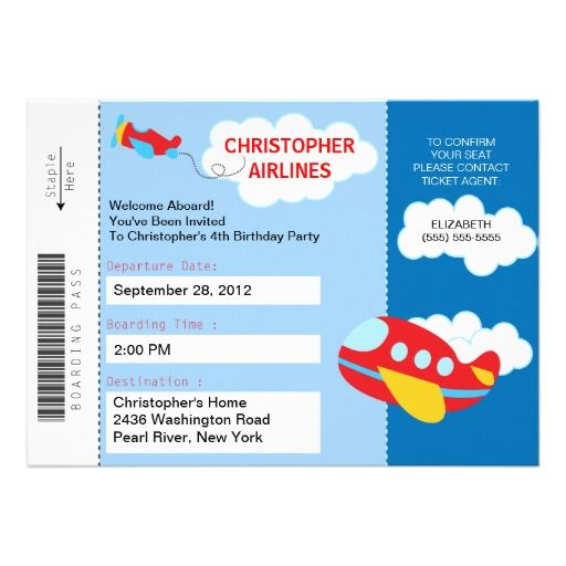 26 best Boarding Pass Invite Template images on Pinterest - best of invitation template boarding pass