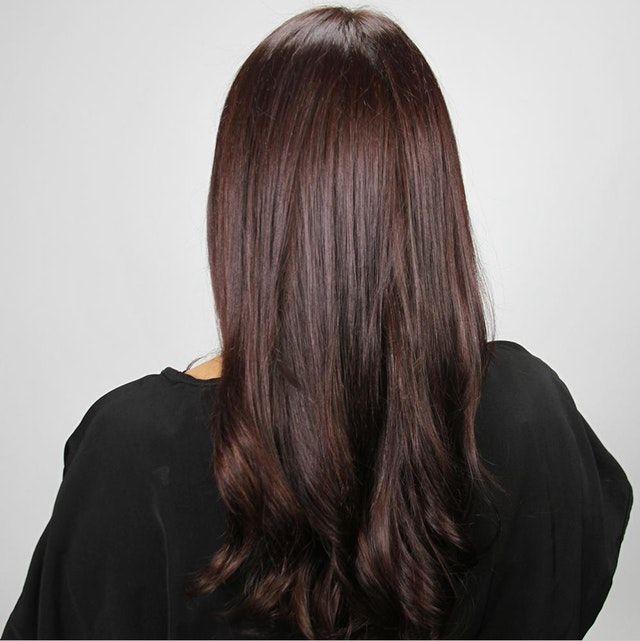 Trieste Red Deep Reddish Mahogany Brown Hair Color Hair Color Mahogany Madison Reed Hair Color Brown Hair Colors