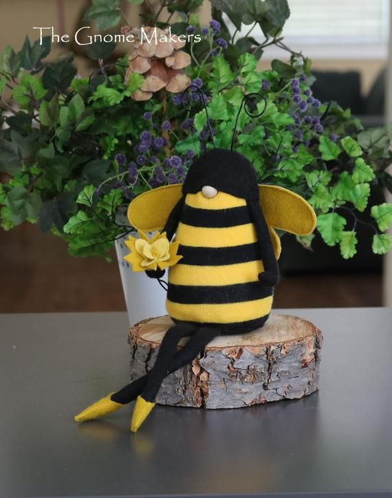 Bee Kitchen Decor Honey Bee Art Stuffed Bumble Bee