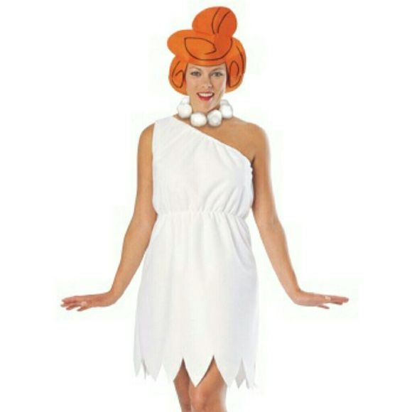 Wilma Flintstone Halloween Costume Wilma Flintstones Halloween Costume  Worn once, Halloween 2015, for 4 hrs Includes necklace and foam head piece Other