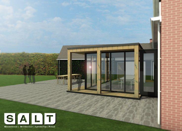 modern addition, natural materials (oak beams, green roof) #architecture #modern #addition #dutchdesign #nature