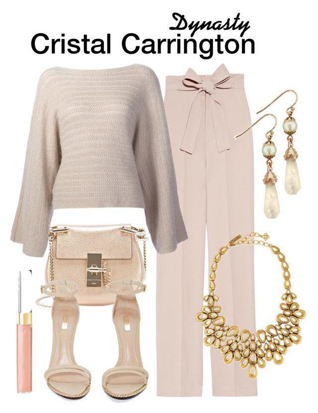 Dynasty by sparkle1277 on Polyvore featuring polyvore, fashion, style, Ralph Lauren, Chloé, Jeffrey Campbell, Oscar de la Renta, 1928, Chanel and clothing