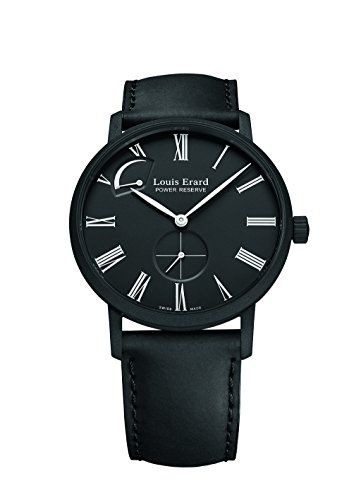 cool Louis Erard Men's 53230NN22 Excellence Automatic Black leather Watch