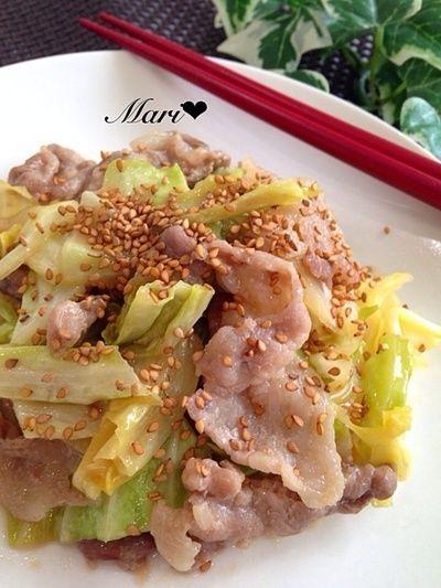 ♡ご飯が進む定番おかず*豚バラとキャベツの味噌炒め♡ by Mariさん ...