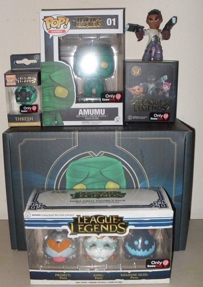 Funko Pop League of Legends sealed CRATE Box Amumu Thresh Lucian Poro Kings #funkopop