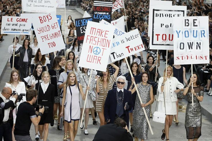 Manifestações Chanel #kissandtell #ilovemyjob #omeutrabalho #Chanel #politicsasusual #esquerda #manif #diarioeconomico #opiniao