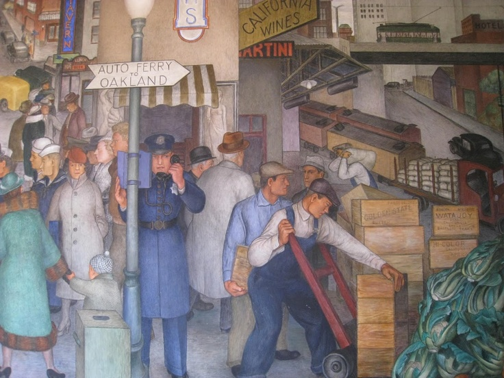 29 best images about coit tower murals on pinterest for Coit tower mural