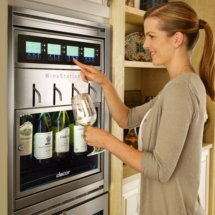 An automated, temperature controlled wine dispenser for the home? Um, yes please!
