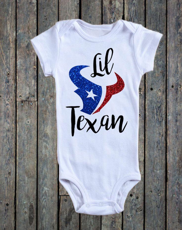 Lil Texan Baby Girl Onesie 174 Baby Onesie 174 Texans Onesie