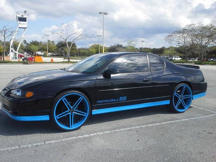 chevy monte carlo ss on 22 inch irocs - big rims