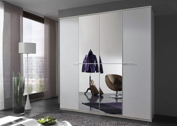 Kleiderschrank 180,0 cm Weiß Strasskristall 5020 Buy now at https - schlafzimmerschrank weiß hochglanz