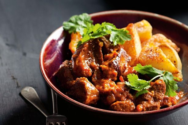 A hearty meal of fragrant lamb cooked in honey and cinnamon and served with crispy sumac-sprinkled potatoes.