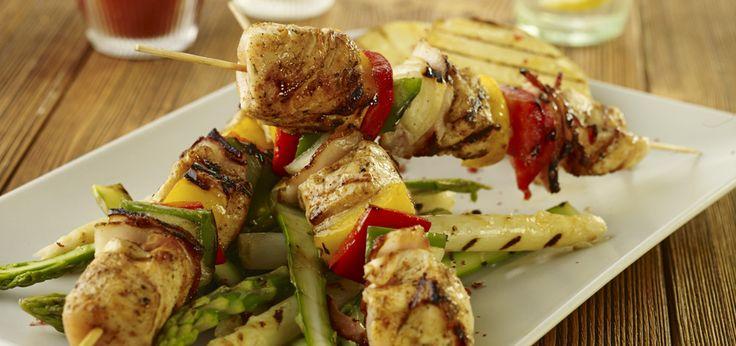 Grill: Szaszłyki po myśliwsku z kurczaka i papryki