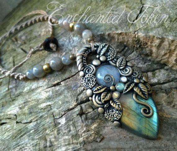 Collana I Colori Della Natura con Labradorite e Pietra di Luna Arcobaleno Introspezione e Spiritualità