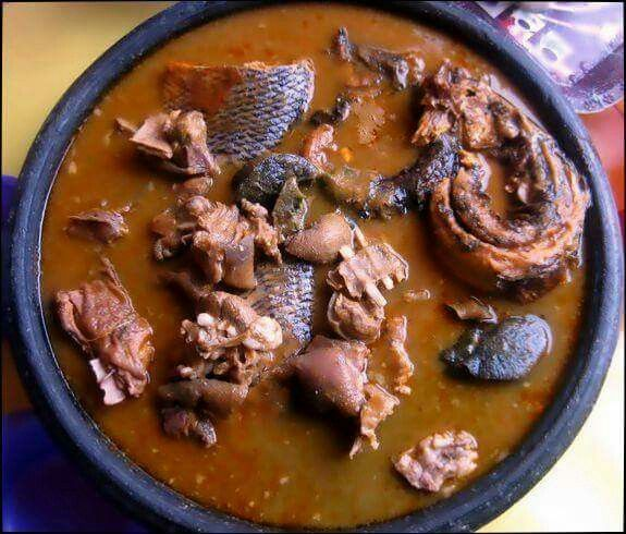 Fufu Pounded Cassava And Plantain Or Cassava And Cocoyam