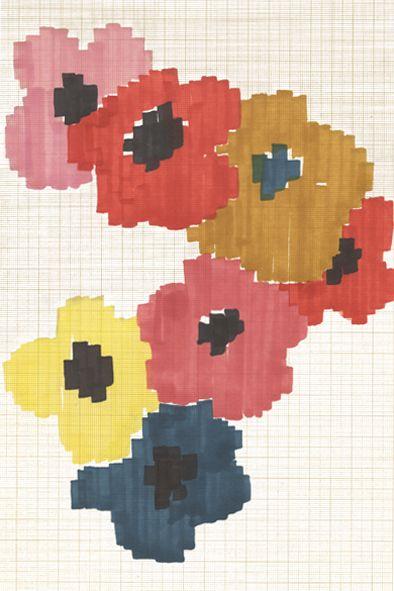 boceto de flores