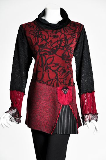 Wild Wine Tunic add darts to a sweater for a more flattering look.