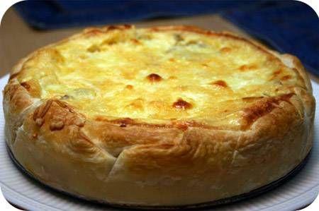 Hartige Taart Met Champignons, Salami En Mozzarella recept | Smulweb.nl