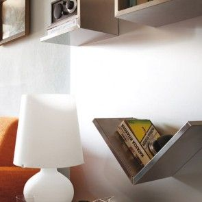 Private villa in Italy - #metal #wall with #magnetic #shelves by #rondadesign