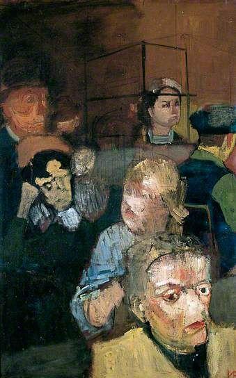 'Café Interior' (1946) by British artist Victor Pasmore (1908-1998). Oil on canvas on millboard, 75.5 x 47.6 cm. via BBC