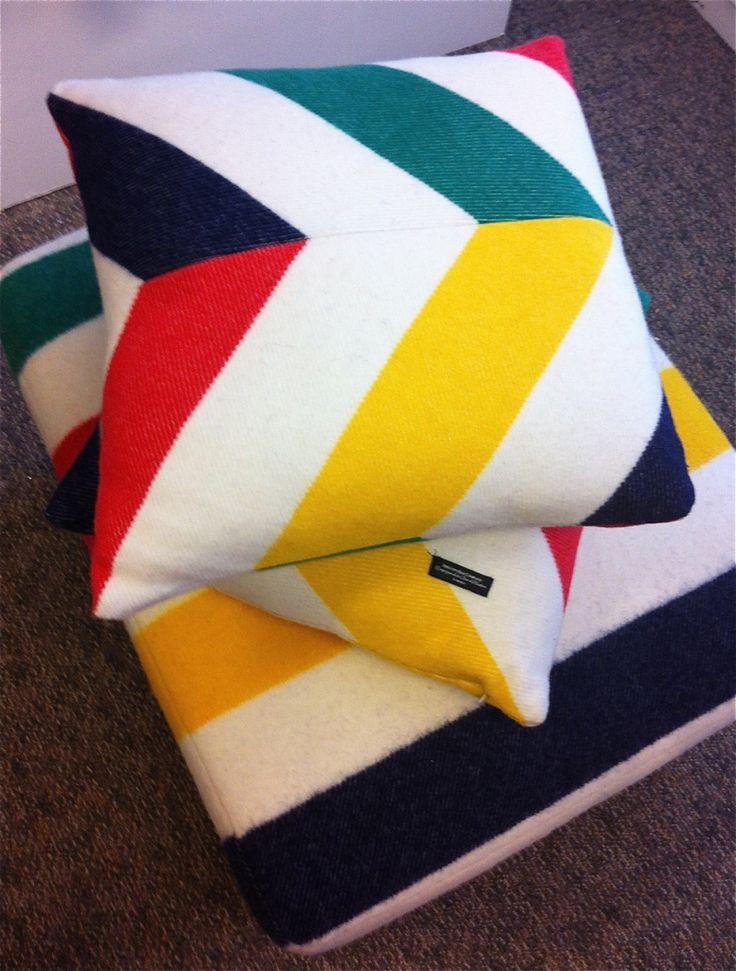 Hudson's Bay Chevron Point Blanket Pillows