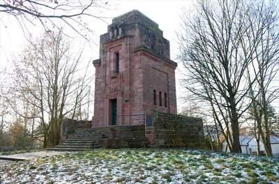 This is the Bismarckturm (Bismarck's Tower) of Landau in der Pfalz, located at the edge of the fortress of Landau.